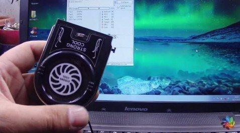 Анти обзор USB куллера для ноутбука FYD-738, Демонстрация работы.