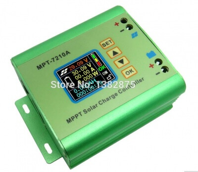 LCD MPPT Solar Regulator Charge Controller 24/36/48/60/72V 10A DC-DC Boost E#TN